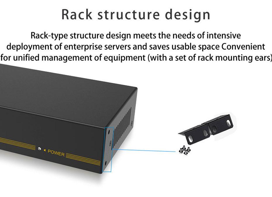 16-port VGA splitter H916 supports rack-mount installation