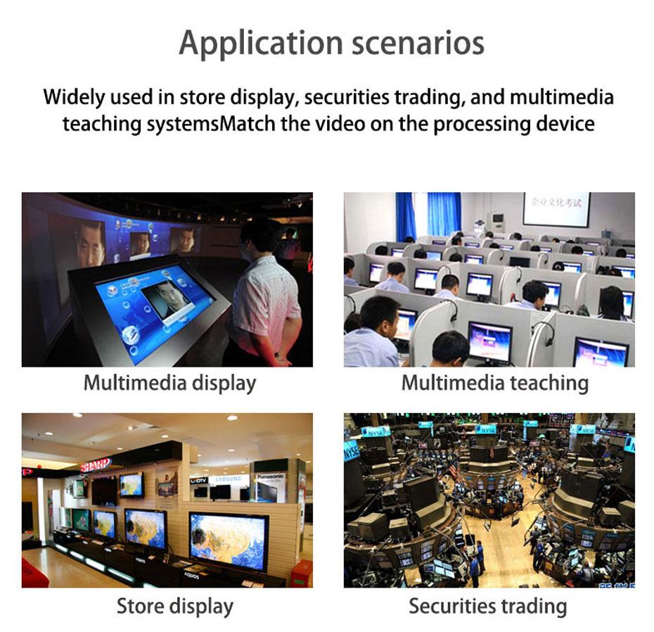 Some application scenarios of 16-port VGA splitter H916