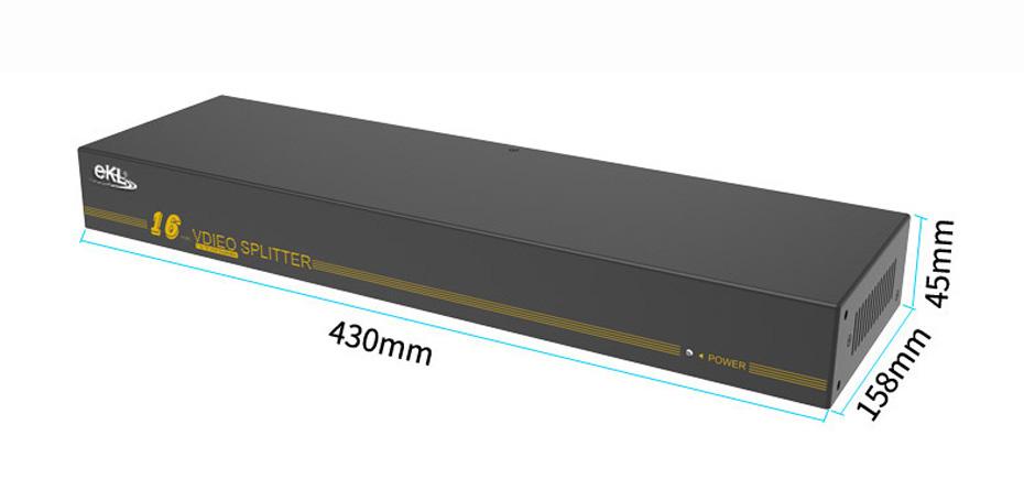 VGA splitter 1 in 16 out H916 length: 430mm; width: 158mm; height: 45mm