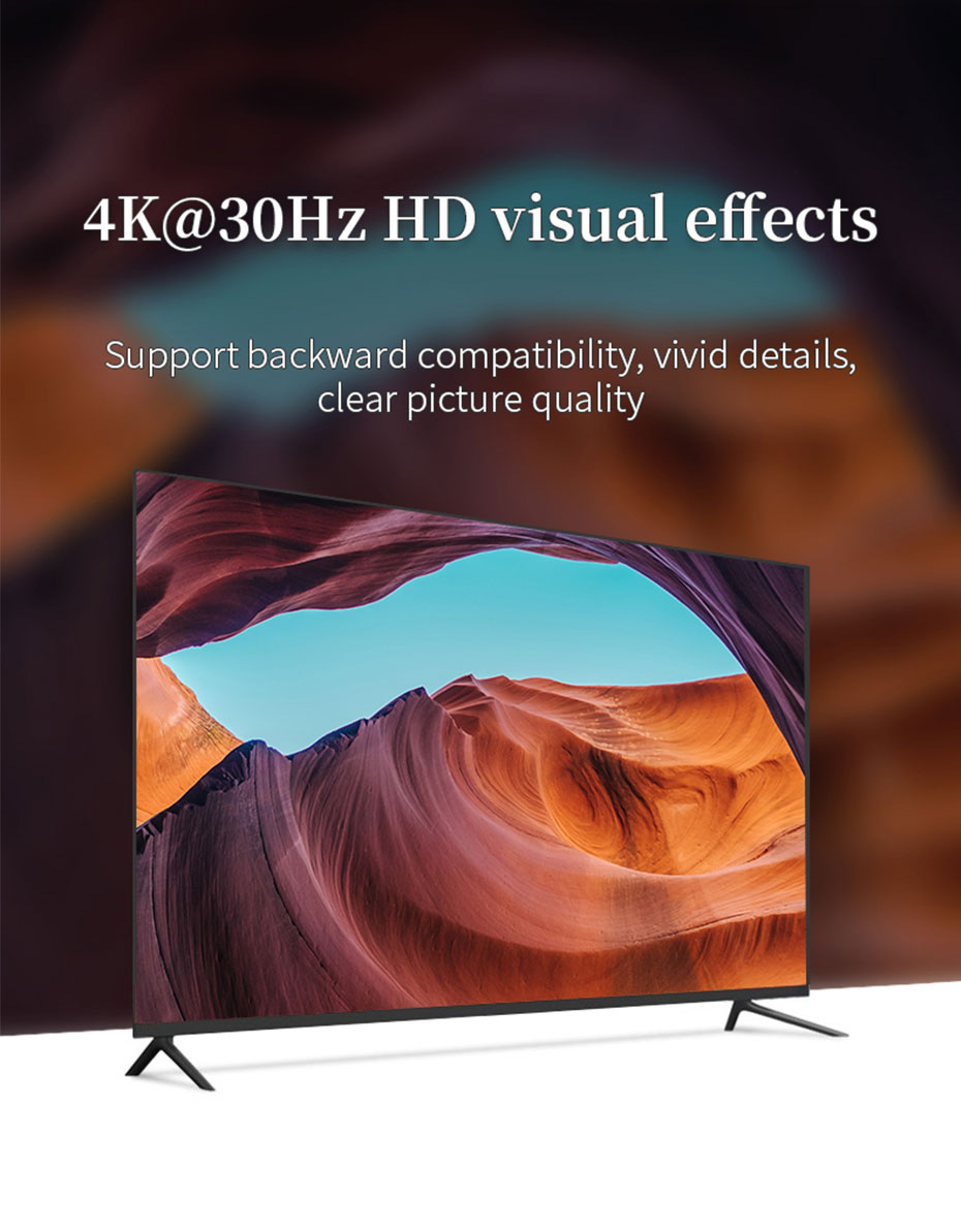 HDMI splitter 1 in 4 out HS104 supports 4K@30Hz HD resolution