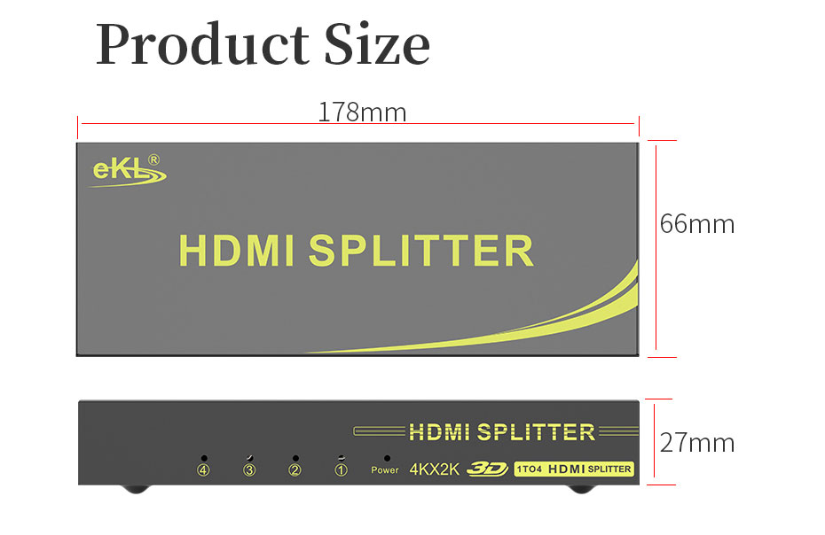 HDMI distributor 1 input and 4 output HS104 some application scenarios
