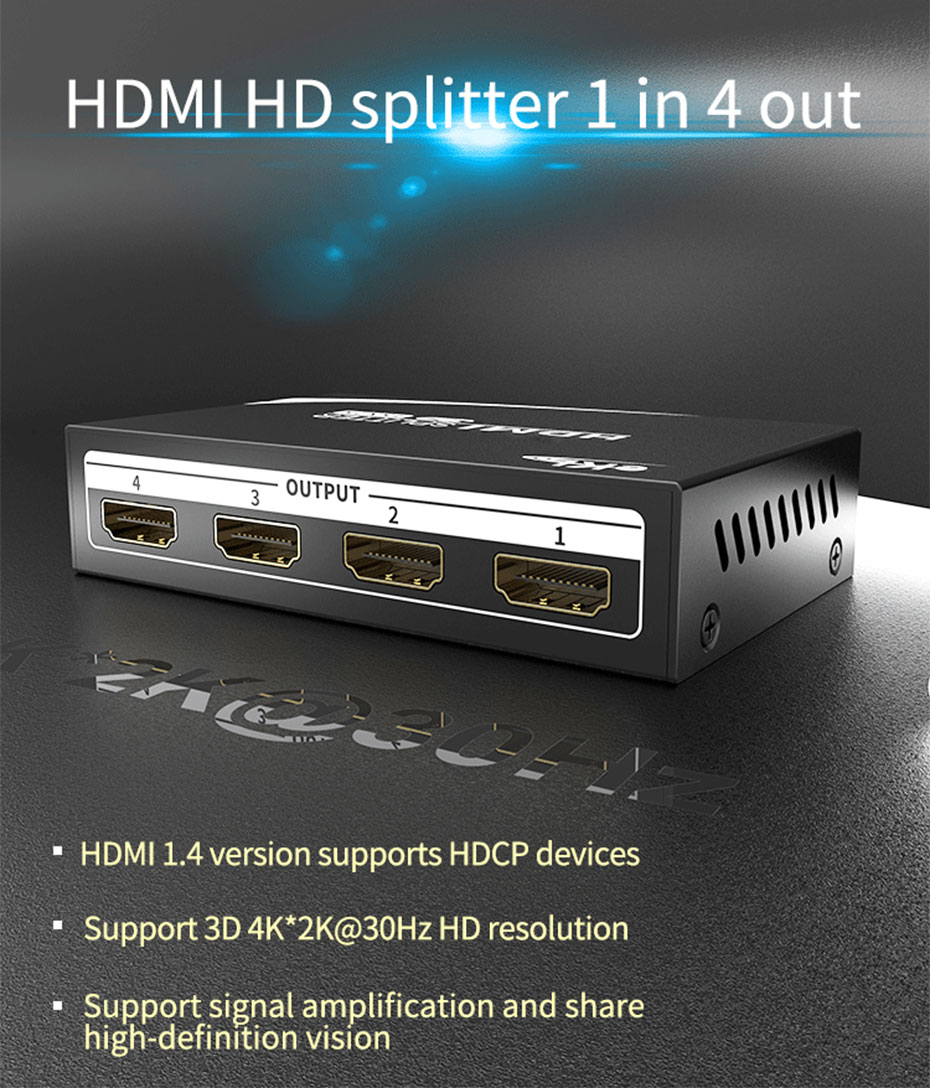 HDMI splitter 1 point 4 MiniHS104