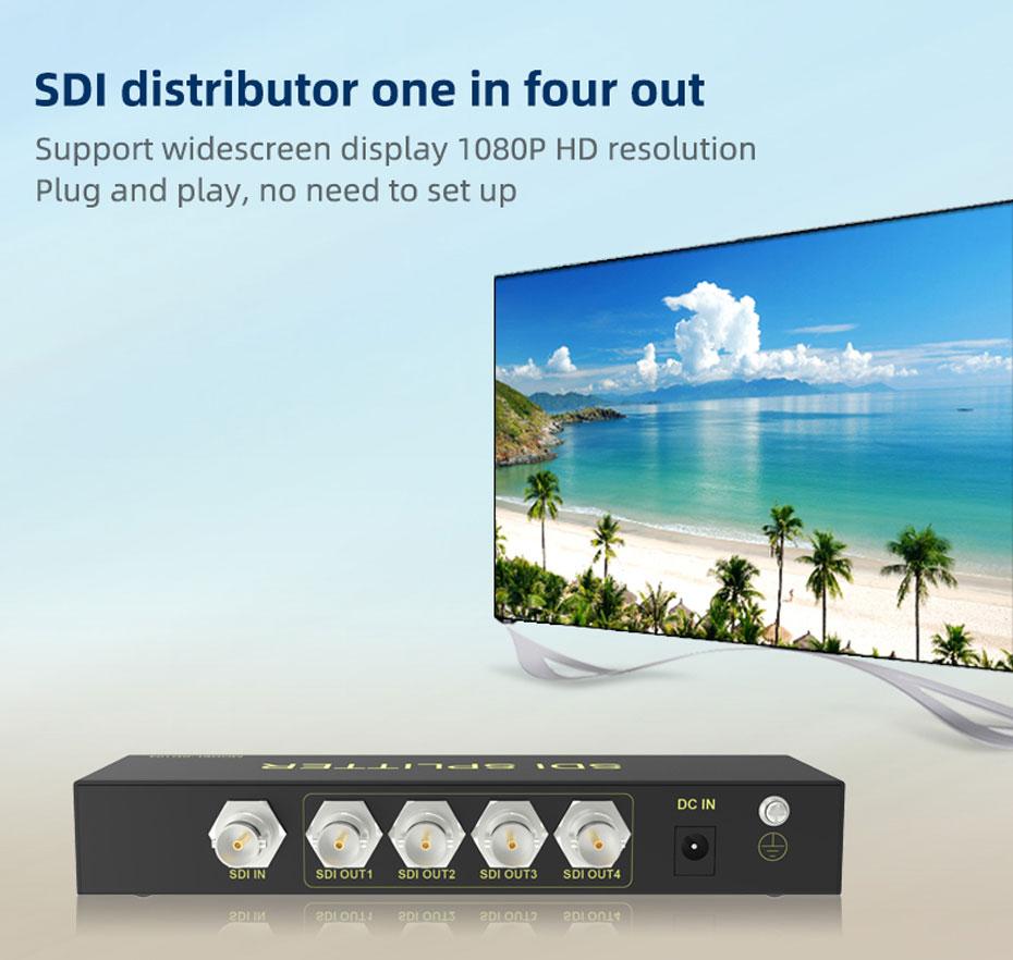 SDI splitter 1 in 4 out SD104