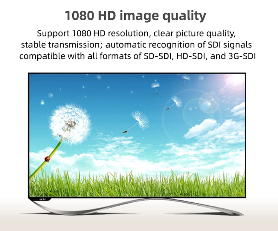 SDI splitter 1 in 4 out SD104 supports 1920*1080p resolution