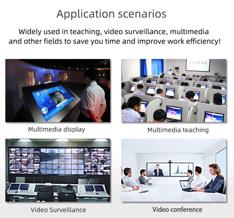 SDI splitter 1 in 4 out SD104 part of the application scenarios