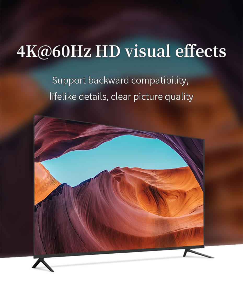 HDMI2.0 splitter 8-port UH08R supports 4K@60Hz HD resolution