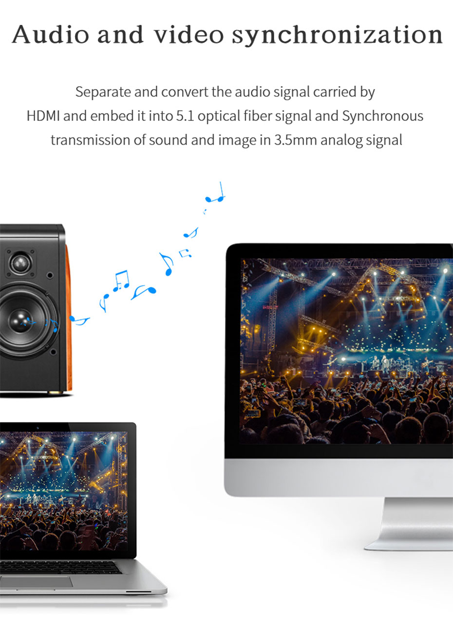HDMI switcher 2 in 2 out 212H supports audio and video synchronization
