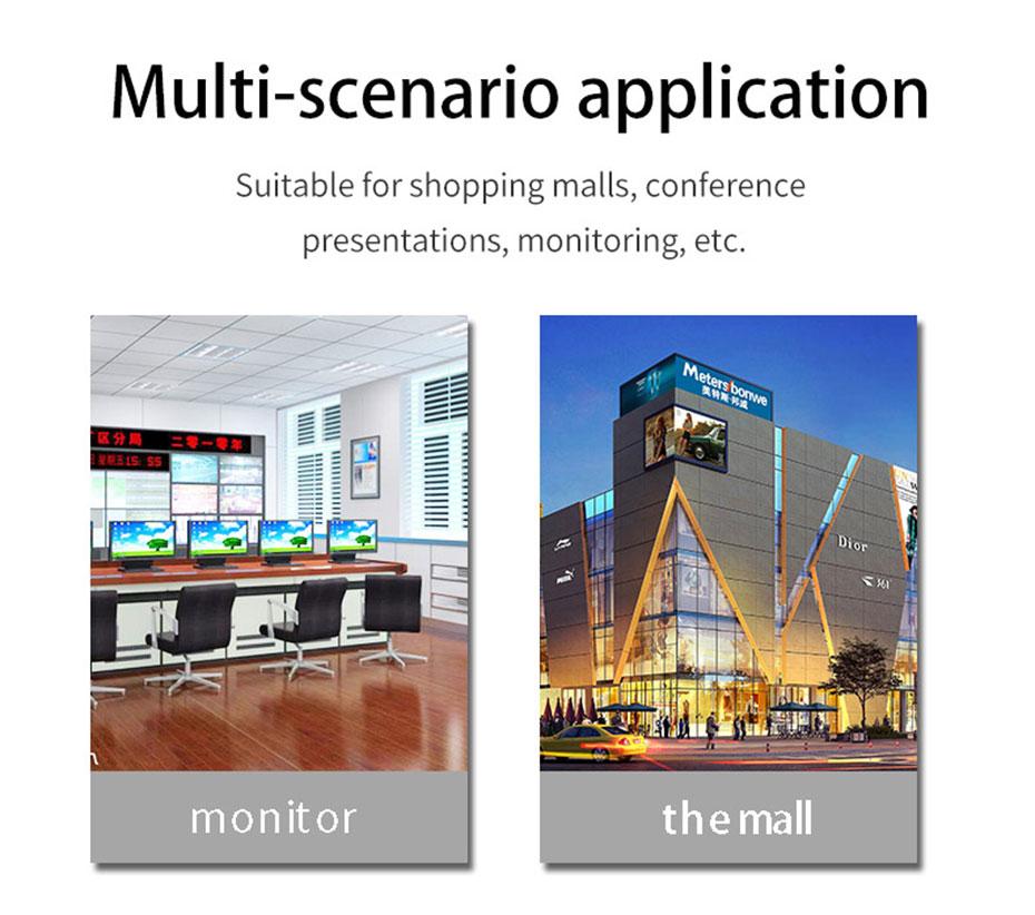 2 port DVI switcher 2 in 1 out 21D application scenario