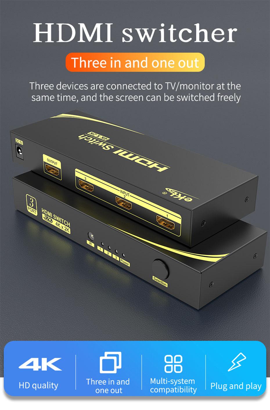 3-port HDMI switch 31HN