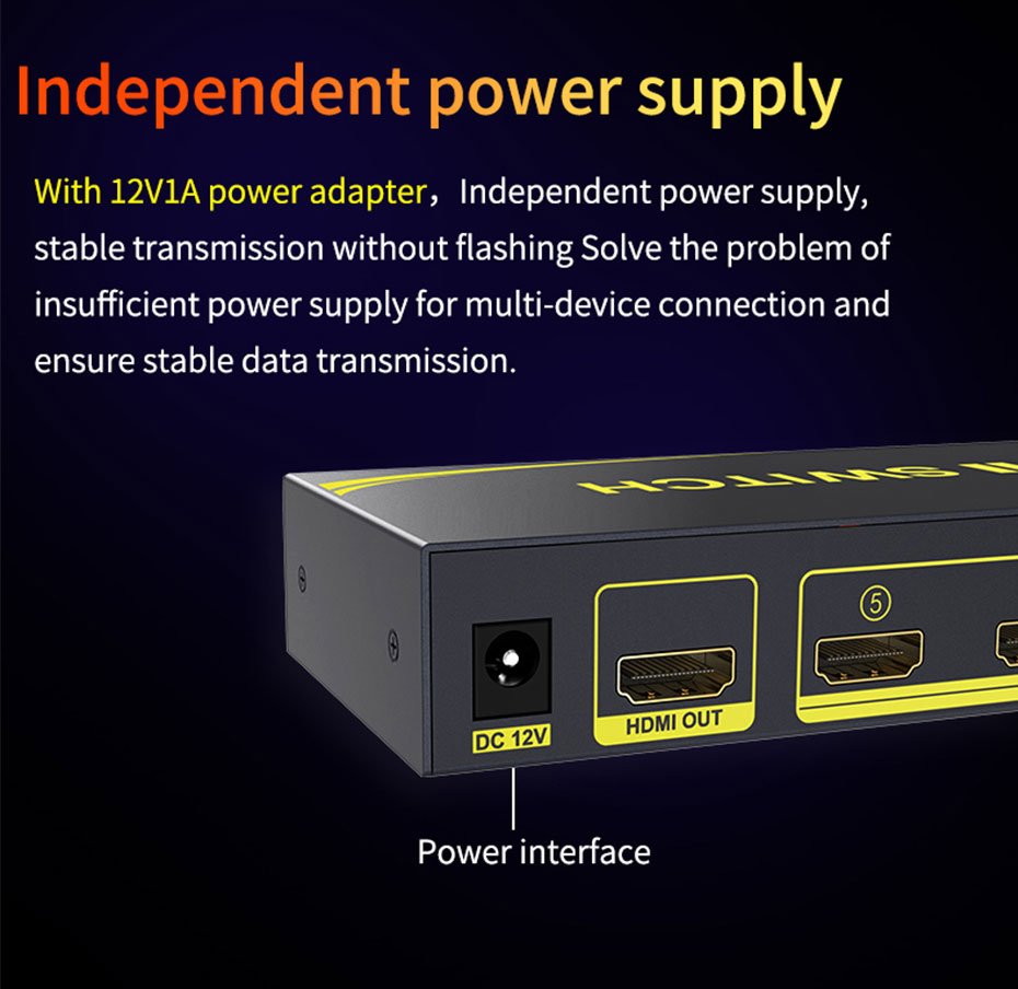 5-port HDMI switcher 51HN uses new imported chips