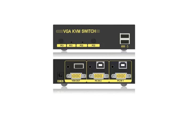 VGA KVM switch 2 in 1 out 21U