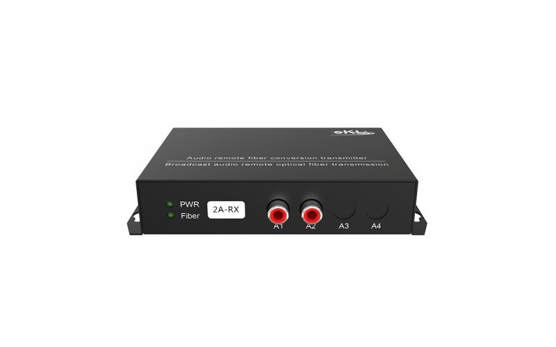 20km 2-way one-way audio optical transceiver 2ZA