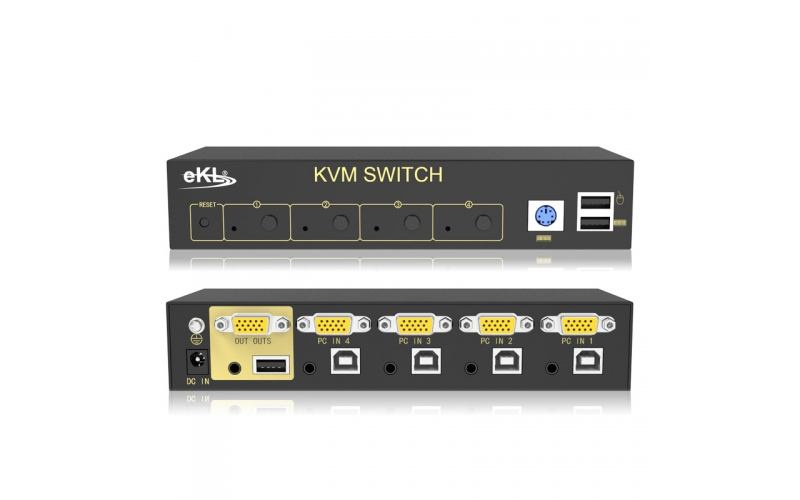 VGA KVM switch 4 in and 1 out 41U