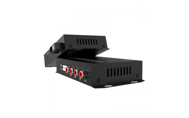 20km 4-channel one-way audio optical transceiver 4ZA