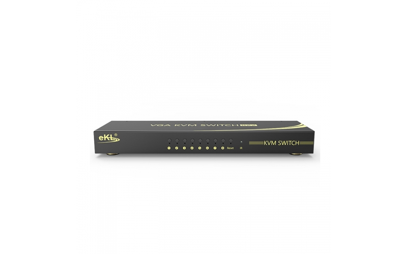 VGA KVM switch 8 in 2 out 81U