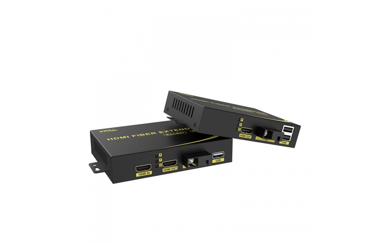 20km HDMI KVM optical fiber extender HFKU200 connection tutorial