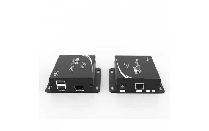 How to connect 100m HDMI Network Extender HU12?