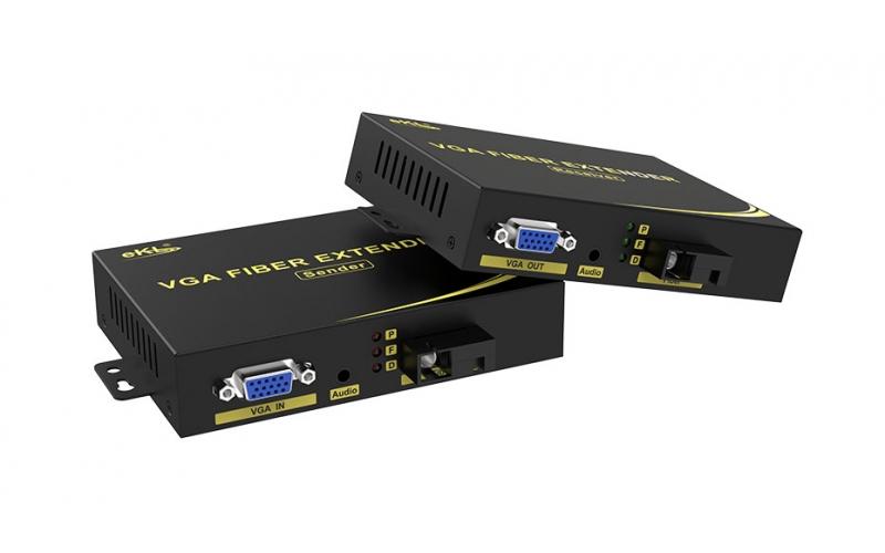 VGA fiber optic extender VF200 connection tutorial