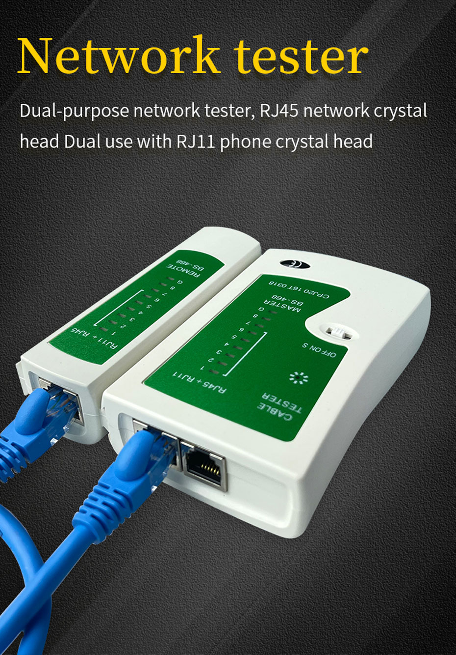 The network cable tool set network tester supports dual-use RJ45 network plug and RJ11 phone plug