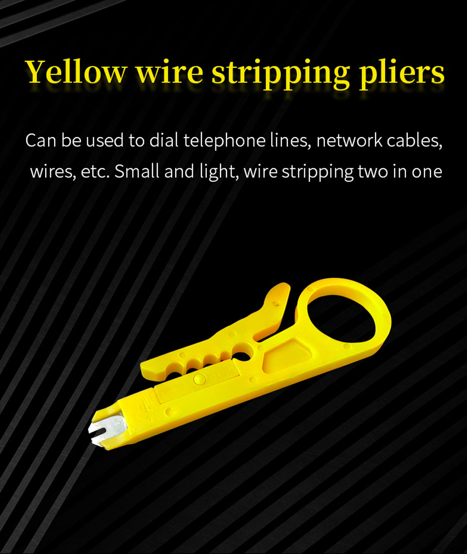 Network cable tool set yellow wire stripping pliers
